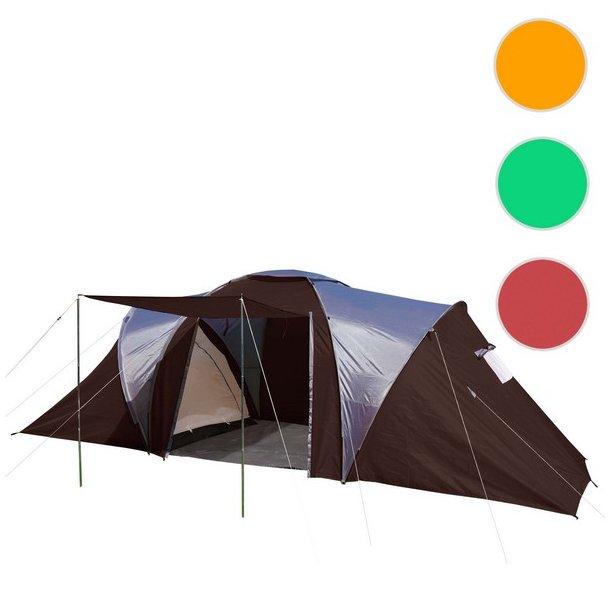 Campingtelt - 6 personers tunneltelt til camping - brunt telt