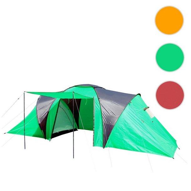 Campingtelt - 6 personers tunneltelt til camping - grønt telt