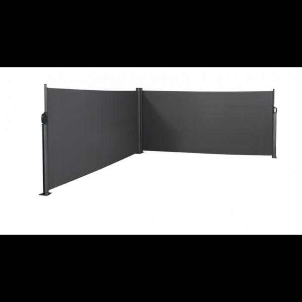 Dobbelt udtrækssejl 600 x 140 - Hortus sidesejl, læsejl og læskærm