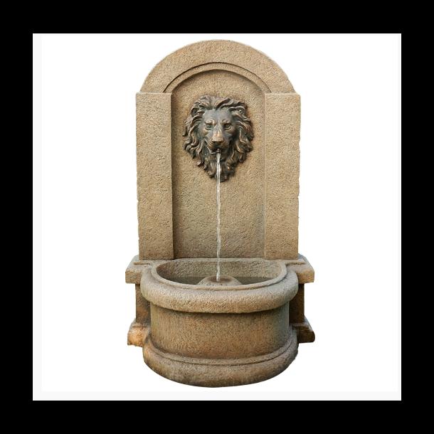 Vandfontæne Lion løvehoved - antik vandkunst og havespringvand